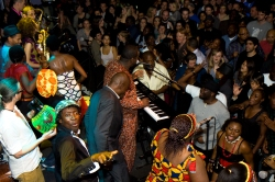 Dele Sosimi Afrobeat Orchestra & cast from FELA! - Fela Kuti birthday tribute 2010, Jazz Cafe, London