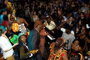 Dele Sosimi Afrobeat Orchestra & cast from FELA! - Fela Kuti birthday tribute 2010, Jazz Cafe, London